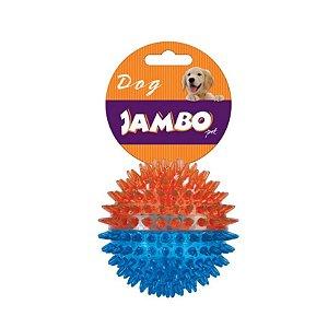 Brinquedo para Cachorro Bola Espinho Dual Azul Laranja G