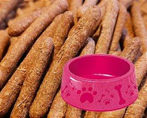 Kit Biscoito para Cachorro Fígado Baba Cão 250g com Pote