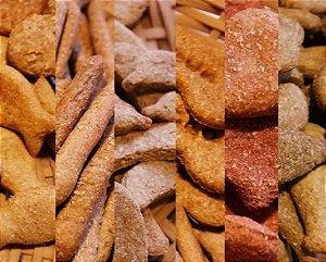 Kit 6 Biscoitos Naturais para Cachorro Sortidos 64g Baba Cão