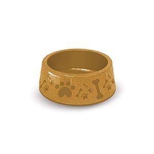 Pote de Comida para Cachorro 850ml Amarelo Paris Furacão Pet