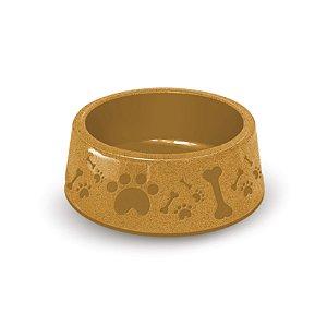 Pote de Comida para Cachorro 1900ml Amarelo Paris Furacão Pet