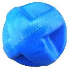Brinquedo Bola para Cachorro Maciça Flex Super Ball Azul 80mm Furacao Pet