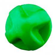 Brinquedo Bola para Cachorro Maciça Flex Super Ball Verde 80mm Furacao Pet