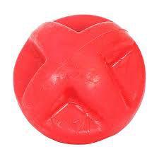 Brinquedo Bola para Cachorro Maciça Flex Super Ball Vermelho 80mm Furacao Pet