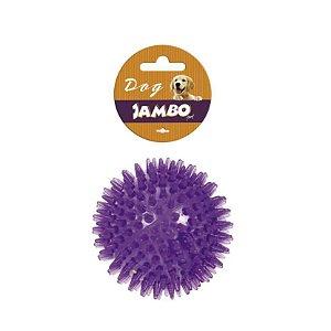 Brinquedo para Cachorro Bola Borracha Espinho Som Dogs Roxo G Jambo Pet
