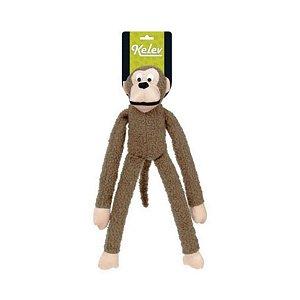 Brinquedo para Cachorro Macaco Pelúcia Marrom Grande Jambo Pet