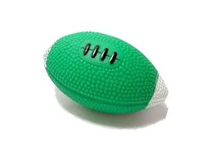 Brinquedo para Cachorro Bola Rugby Verde Branco Chalesco