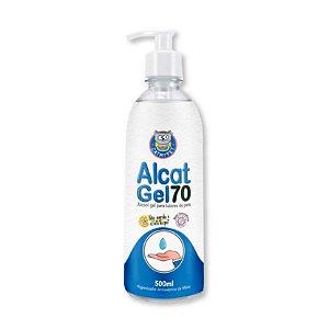 Álcool Gel Tutores Cães Gatos Alcat Gel 70 500ml CatMyPet