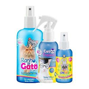 Kit Produtos para Gato Saudável Educado Natural Catmypet