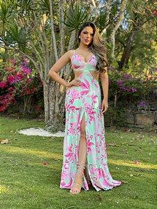 Vestido Longo estampado Diva