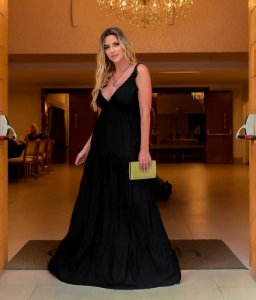 Vestido longo Adriane - PRETO
