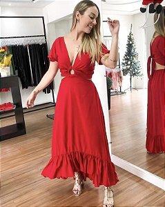 Vestido Paloma  - VERMELHO