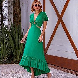 Vestido Soraya - VERDE BANDEIRA