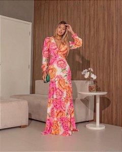 Vestido longo Lary- Floral