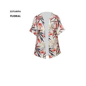 Kimono estampado crepe