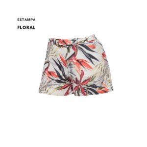 Short estampado crepe