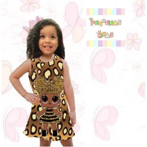 Vestido Boneca Lol Surprise Queen Bee Print