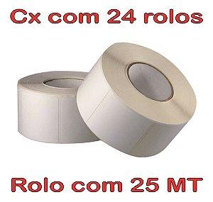 Etiqueta 40x40 Térmica - 24 Rolos - 25 Metros