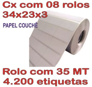 Etiqueta Couchê 34x23x3 - 8 Rolos