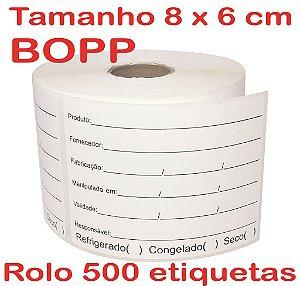 Etiqueta BOPP Manipulação 60x80 - 500 etiquetas
