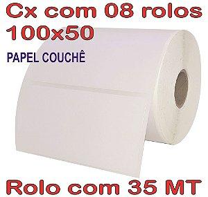 Etiqueta Couchê 100x50 - 8 Rolos