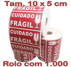 Etiqueta Cuidado Frágil 100x50 - Milheiro