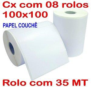 Etiqueta Couchê 100x100 - 8 Rolos