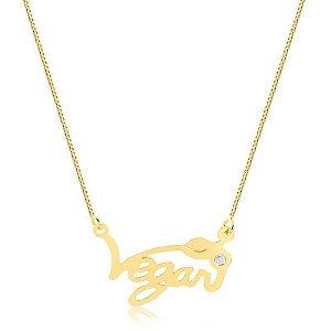 Colar Vegan folheado em ouro 18K