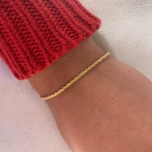 Pulseira cordão baiano folheado em ouro 18K