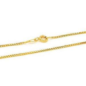 Corrente veneziana folheado em ouro 18k
