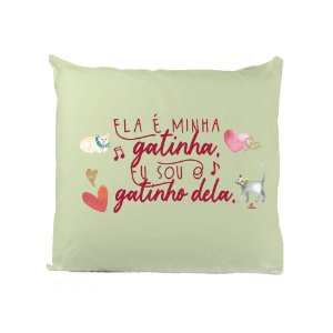 Capa almofada Coleção Amor é Música (sob disponibilidade da frase)