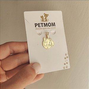 Pingente de Hamster folheado em ouro 18K