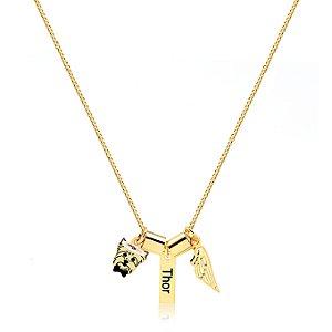 Colar anjinho Personalizado folheado em ouro 18k