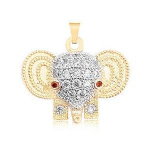Pingente de Elefante folheado em ouro 18K