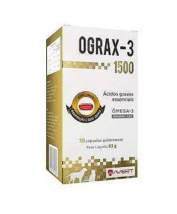 Suplemento Avert Ograx-3 1500 para Cães e Gatos - 30 Cápsulas