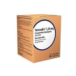 Vetmedin Boehringer Ingelheim 1,25mg 50 Comprimidos Mastigáveis para Cães