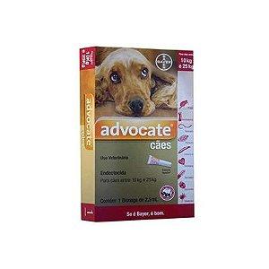 Advocate cães entre 10 Kg e 25 Kg, bisnaga (2,5 mL)