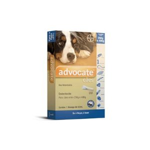 Advocate cães acima de 25 Kg e 40 kg, bisnaga (4,0 mL)