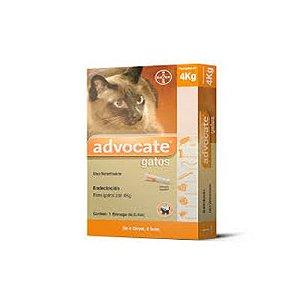 Advocate gatos até 4 Kg, bisnaga (0,4 mL)