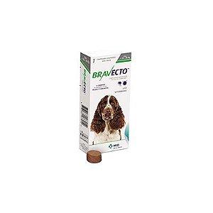 Bravecto cães de 10 a 20 Kg 500 mg, comprimido palatável (1 un)