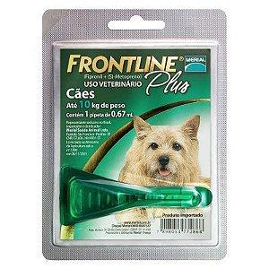 Frontline Plus cães até 10 Kg, pipeta (1 un)