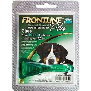 Frontline Plus cães de 40 Kg a 60Kg, pipeta (1 un)
