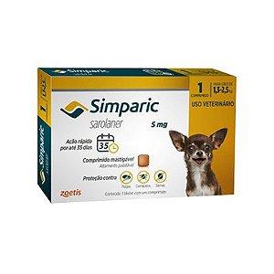Simparic cães de 1,3 kg a 2,5 kg 5 mg, comprimido mastigável (1 un)