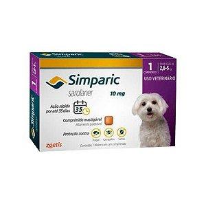 Simparic cães de 2,6 kg a 5,0 kg 10 mg, comprimido mastigável (1 un)