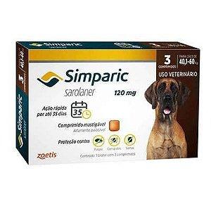 Simparic cães de 40,1 kg a 60,0 kg 120 mg, comprimido mastigável (3 un)