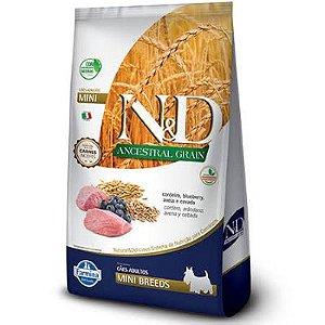 Ração N&D Ancestral Grain Cães Adultos Mini Cordeiro 2,5kg