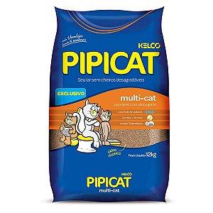 Pipicat multi-cat 12kg - areia higiênica para gatos.