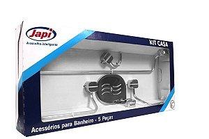 Kit Acessorios 5 peças Cromado  Japi
