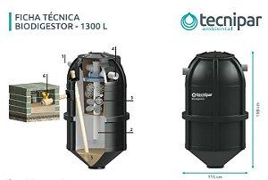 Biodigestor 1300 Litros Tecnipar 2 em 1