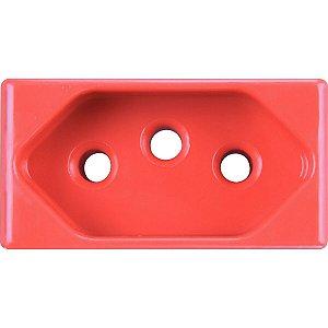 Módulo Tomada 2P + T vermelha 20A  250V Tramontina